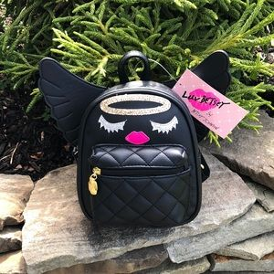 Betsey Johnson Mini Backpack With Wings